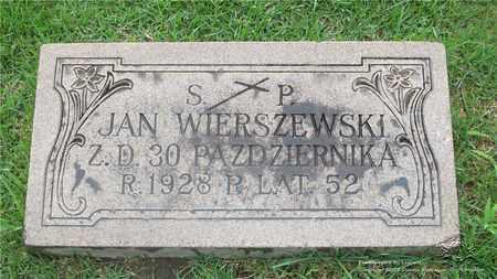 WIERSZEWSKI, JAN - Lucas County, Ohio | JAN WIERSZEWSKI - Ohio Gravestone Photos