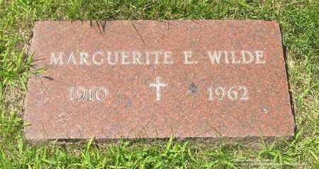 WILDE, MARGUERITE E. - Lucas County, Ohio | MARGUERITE E. WILDE - Ohio Gravestone Photos