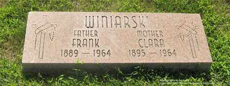 WINIARSKI, CLARA - Lucas County, Ohio | CLARA WINIARSKI - Ohio Gravestone Photos