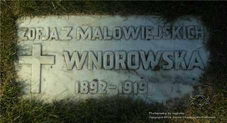 MALOWIEJSKI WNOROWSKA, ZOFJA - Lucas County, Ohio | ZOFJA MALOWIEJSKI WNOROWSKA - Ohio Gravestone Photos
