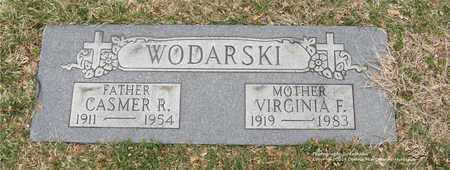 WODARSKI, VIRGINIA F. - Lucas County, Ohio | VIRGINIA F. WODARSKI - Ohio Gravestone Photos