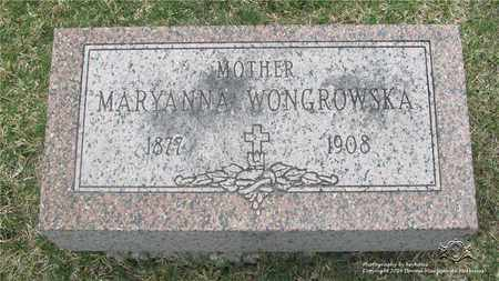WONGROWSKA, MARYANNA - Lucas County, Ohio | MARYANNA WONGROWSKA - Ohio Gravestone Photos
