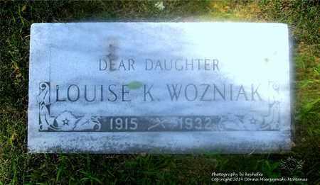 WOZNIAK, LOUISE K. - Lucas County, Ohio | LOUISE K. WOZNIAK - Ohio Gravestone Photos