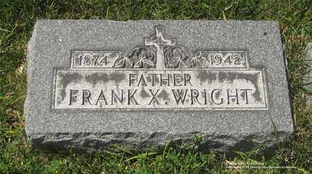 WRIGHT, FRANK X. - Lucas County, Ohio | FRANK X. WRIGHT - Ohio Gravestone Photos