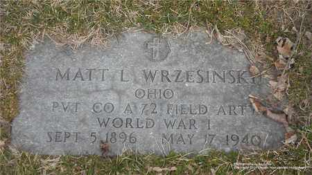 WRZESINSKI, MATT L. - Lucas County, Ohio | MATT L. WRZESINSKI - Ohio Gravestone Photos