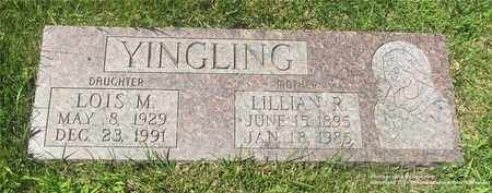 YINGLING, LILLIAN R. - Lucas County, Ohio | LILLIAN R. YINGLING - Ohio Gravestone Photos