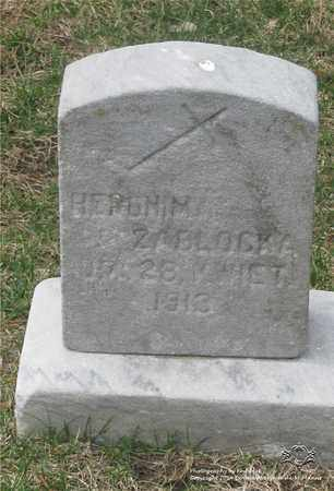 ZABLOCKA, HERONIMA - Lucas County, Ohio | HERONIMA ZABLOCKA - Ohio Gravestone Photos