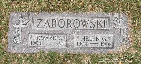 ZABOROWSKI, EDWARD A. - Lucas County, Ohio | EDWARD A. ZABOROWSKI - Ohio Gravestone Photos