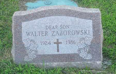 ZABOROWSKI, WALTER - Lucas County, Ohio | WALTER ZABOROWSKI - Ohio Gravestone Photos