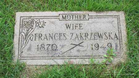 MATUSZAK ZAKRZEWSKA, FRANCES - Lucas County, Ohio | FRANCES MATUSZAK ZAKRZEWSKA - Ohio Gravestone Photos