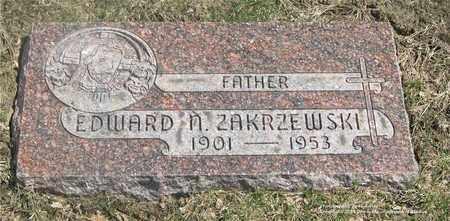 ZAKRZEWSKI, EDWARD N. - Lucas County, Ohio | EDWARD N. ZAKRZEWSKI - Ohio Gravestone Photos