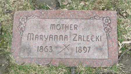 ZALECKI, MARYANNA - Lucas County, Ohio | MARYANNA ZALECKI - Ohio Gravestone Photos