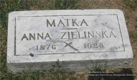 ZIELINSKA, ANNA - Lucas County, Ohio | ANNA ZIELINSKA - Ohio Gravestone Photos