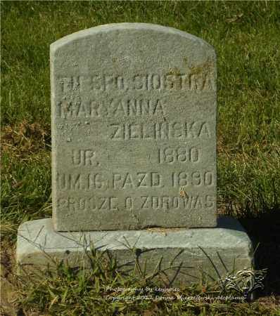 ZIELINSKA, MARYANNA - Lucas County, Ohio | MARYANNA ZIELINSKA - Ohio Gravestone Photos