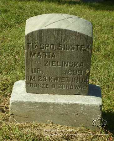 ZIELINSKA, MARTA - Lucas County, Ohio | MARTA ZIELINSKA - Ohio Gravestone Photos