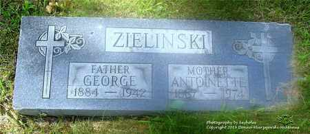 ZIELINSKI, GEORGE - Lucas County, Ohio | GEORGE ZIELINSKI - Ohio Gravestone Photos