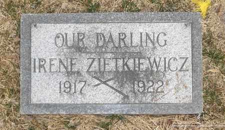 ZIETKIEWICZ, IRENE - Lucas County, Ohio | IRENE ZIETKIEWICZ - Ohio Gravestone Photos