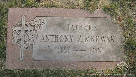 ZIMKOWSKI, ANTHONY - Lucas County, Ohio | ANTHONY ZIMKOWSKI - Ohio Gravestone Photos