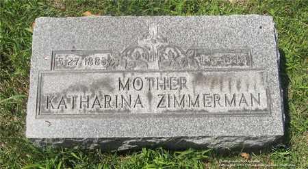 ZIMMERMAN, KATHARINA - Lucas County, Ohio | KATHARINA ZIMMERMAN - Ohio Gravestone Photos