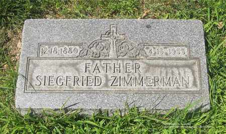 ZIMMERMAN, SIEGFRIED - Lucas County, Ohio | SIEGFRIED ZIMMERMAN - Ohio Gravestone Photos