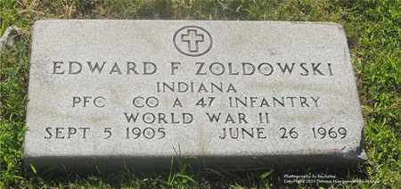 ZOLDOWSKI, EDWARD F. - Lucas County, Ohio | EDWARD F. ZOLDOWSKI - Ohio Gravestone Photos