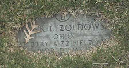 ZOLDOWSKI, FRANK L. - Lucas County, Ohio | FRANK L. ZOLDOWSKI - Ohio Gravestone Photos
