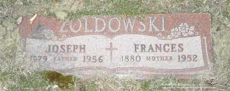 ZOLDOWSKI, FRANCES - Lucas County, Ohio | FRANCES ZOLDOWSKI - Ohio Gravestone Photos