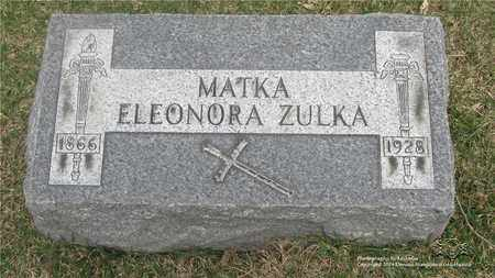 SCHLOSSER ZULKA, ELEONORA - Lucas County, Ohio | ELEONORA SCHLOSSER ZULKA - Ohio Gravestone Photos