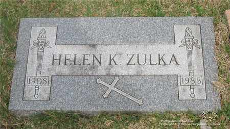 ZULKA, HELEN K. - Lucas County, Ohio | HELEN K. ZULKA - Ohio Gravestone Photos