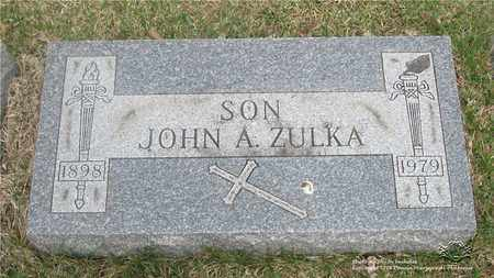 ZULKA, JOHN A. - Lucas County, Ohio | JOHN A. ZULKA - Ohio Gravestone Photos