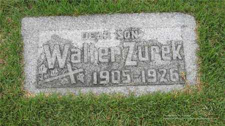 ZUREK, WALTER - Lucas County, Ohio | WALTER ZUREK - Ohio Gravestone Photos