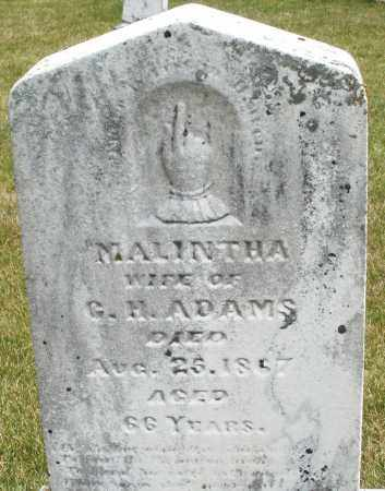 ADAMS, MALINTHA - Madison County, Ohio | MALINTHA ADAMS - Ohio Gravestone Photos