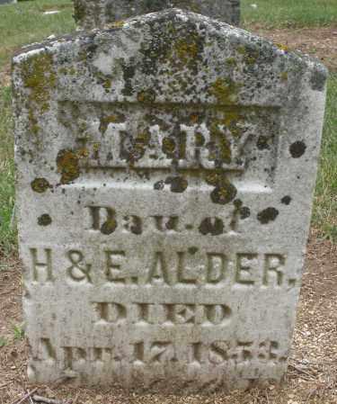 ALDER, MARY - Madison County, Ohio | MARY ALDER - Ohio Gravestone Photos