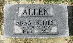 STIRES ALLEN, ANNA - Madison County, Ohio | ANNA STIRES ALLEN - Ohio Gravestone Photos