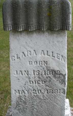ALLEN, CLARA - Madison County, Ohio | CLARA ALLEN - Ohio Gravestone Photos