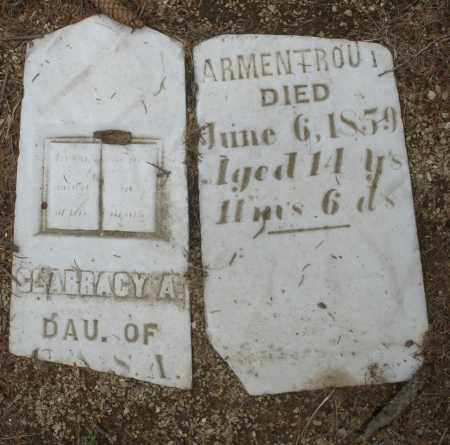 ARMENTROUT, SLARRACY A. - Madison County, Ohio | SLARRACY A. ARMENTROUT - Ohio Gravestone Photos