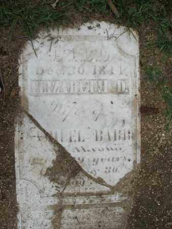 BABB, ELIZABETH D. - Madison County, Ohio | ELIZABETH D. BABB - Ohio Gravestone Photos