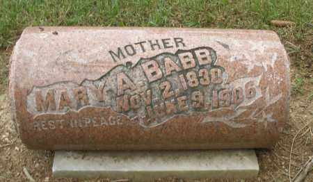 BABB, MARY A. - Madison County, Ohio | MARY A. BABB - Ohio Gravestone Photos