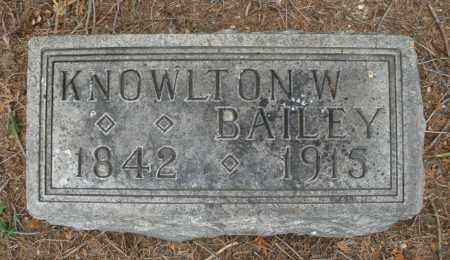 BAILEY, KNOWLTON W. - Madison County, Ohio | KNOWLTON W. BAILEY - Ohio Gravestone Photos