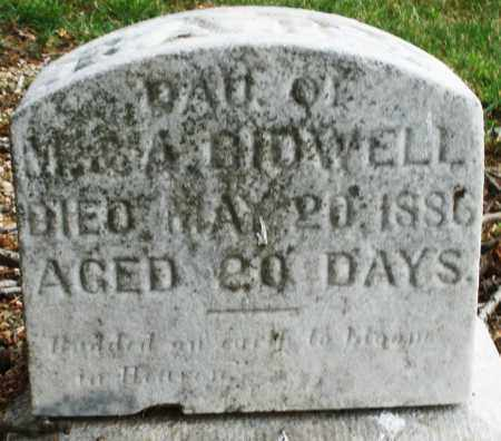 BIDWELL, DAUGHTER - Madison County, Ohio | DAUGHTER BIDWELL - Ohio Gravestone Photos