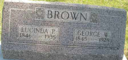 BROWN, LUCINDA P. - Madison County, Ohio | LUCINDA P. BROWN - Ohio Gravestone Photos