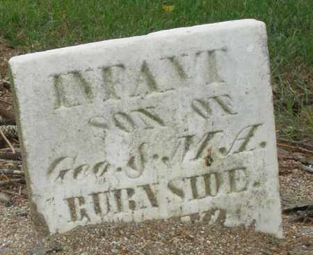 BURNSIDE, INFANT - Madison County, Ohio | INFANT BURNSIDE - Ohio Gravestone Photos