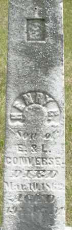 CONVERSE, HENRY - Madison County, Ohio | HENRY CONVERSE - Ohio Gravestone Photos