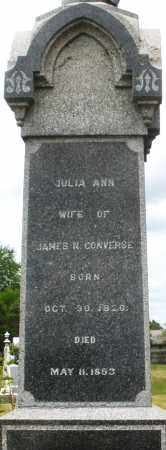 CONVERSE, JULIA ANN - Madison County, Ohio | JULIA ANN CONVERSE - Ohio Gravestone Photos