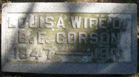 CORSON, LOUISA - Madison County, Ohio | LOUISA CORSON - Ohio Gravestone Photos
