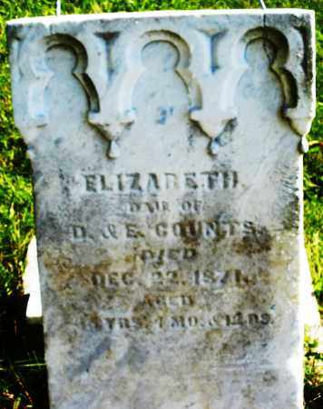 COUNTS, ELIZABETH - Madison County, Ohio | ELIZABETH COUNTS - Ohio Gravestone Photos