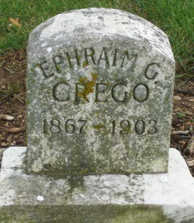 CREGO, EPHRAIM G. - Madison County, Ohio | EPHRAIM G. CREGO - Ohio Gravestone Photos