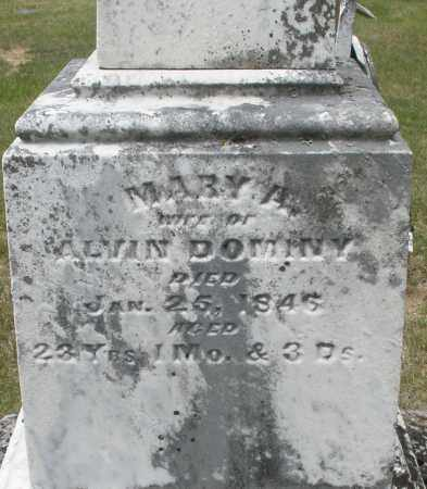 DOMINY, MARY A. - Madison County, Ohio | MARY A. DOMINY - Ohio Gravestone Photos