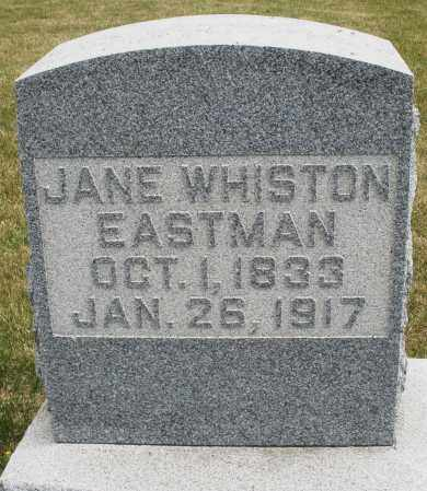 WHISTON EASTMAN, JANE - Madison County, Ohio | JANE WHISTON EASTMAN - Ohio Gravestone Photos