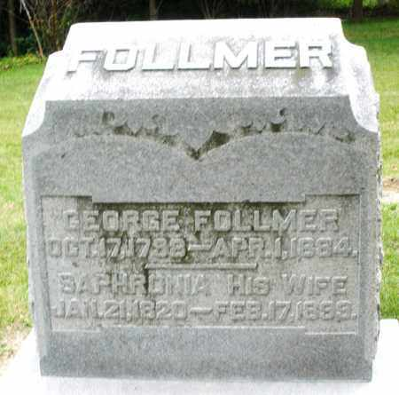 FOLLMER, SAPHRONIA - Madison County, Ohio | SAPHRONIA FOLLMER - Ohio Gravestone Photos